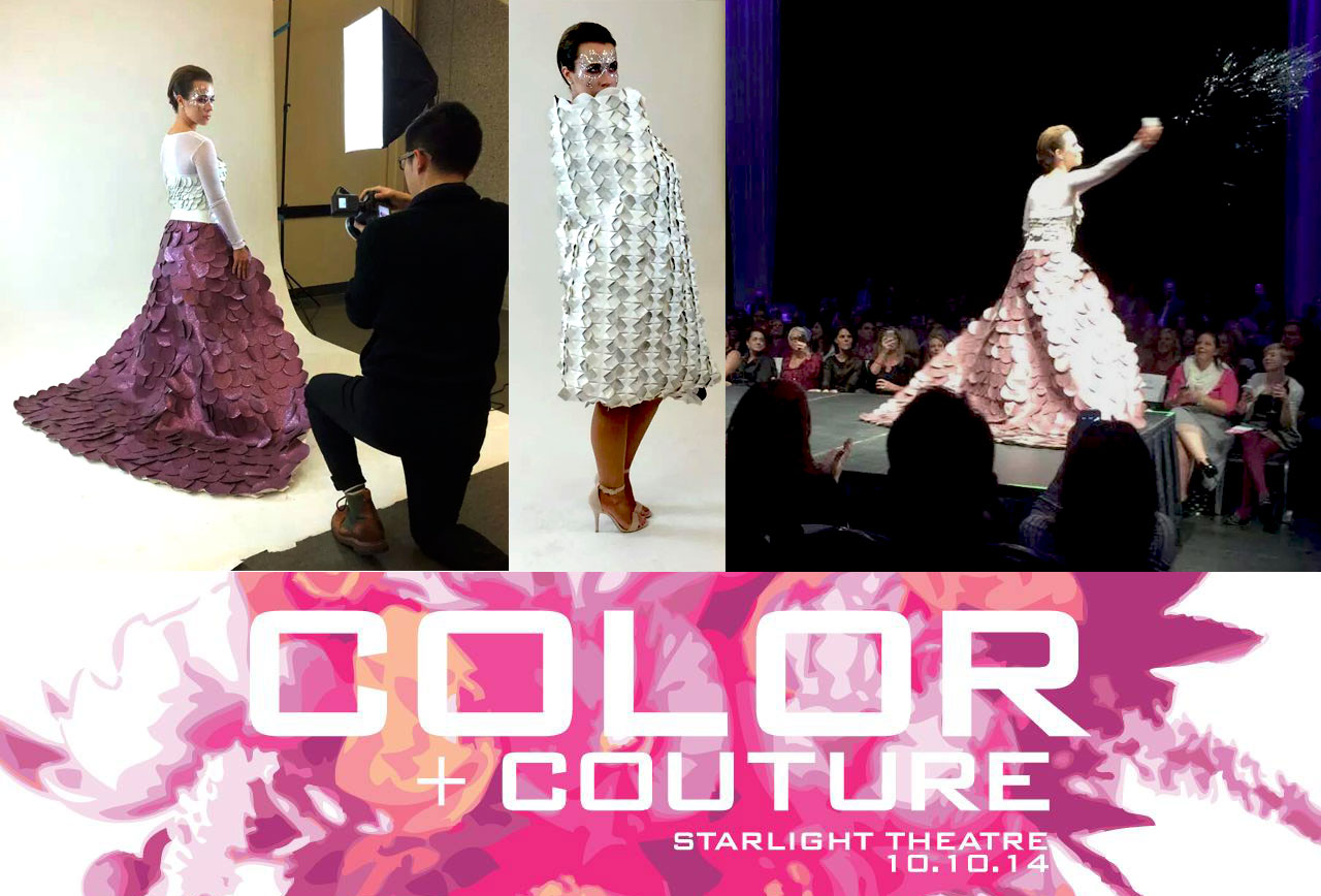 Color + Couture photo collage 2014