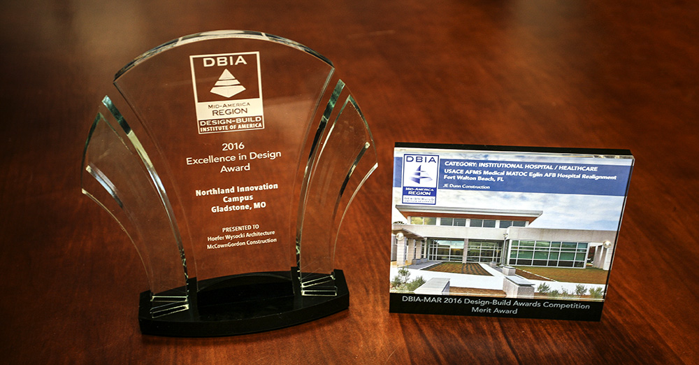 Hoefer Wysocki receives two DBIA design-build awards.