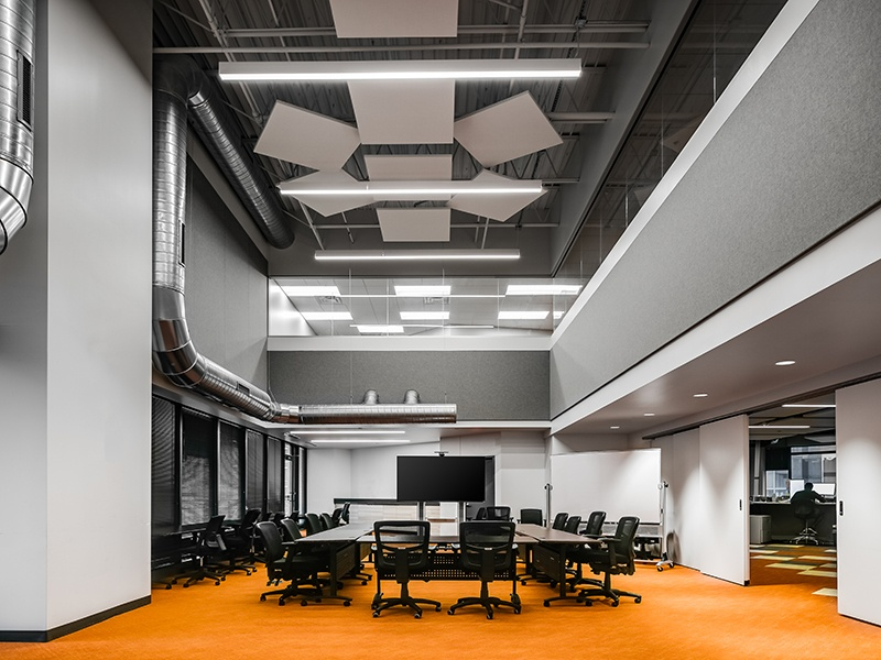 Ceiling Products Enhance Acoustics and Aesthetics for Open Office Design
