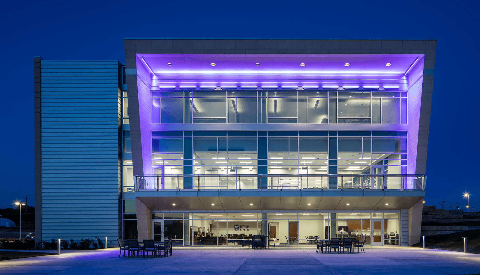 K-State Front Night View