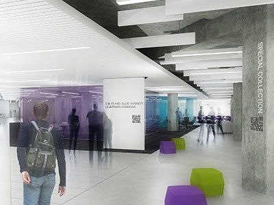 Hale Library Interior Rendering