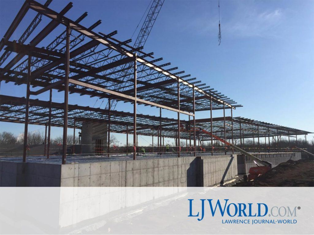 Lawrence Police Headquarters Construction Shot